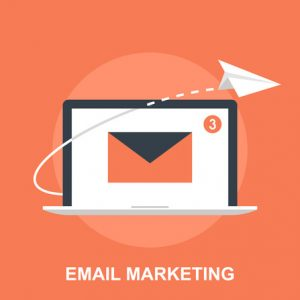 Vector illustration of email marketing flat design concept.